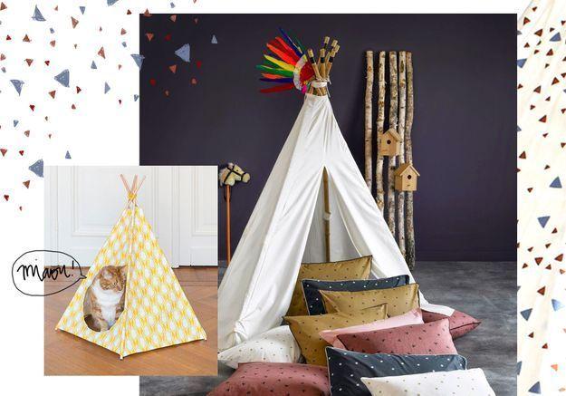 doit on vraiment succomber au tipi dans la maison elle d coration. Black Bedroom Furniture Sets. Home Design Ideas