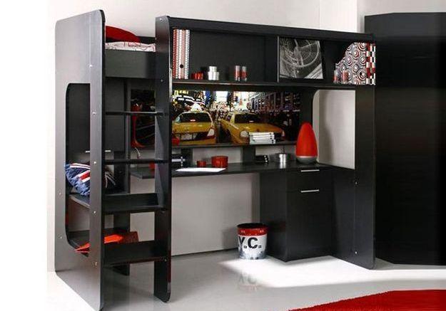 tendance le lit mezzanine elle d coration. Black Bedroom Furniture Sets. Home Design Ideas