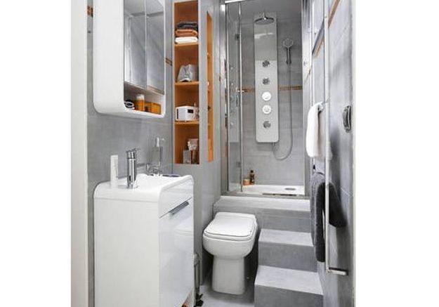 salle de bain petite taille. Black Bedroom Furniture Sets. Home Design Ideas