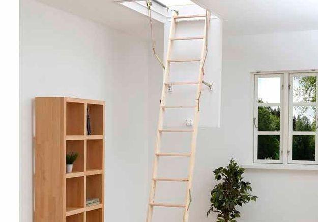 quel escalier pour les combles elle d coration. Black Bedroom Furniture Sets. Home Design Ideas
