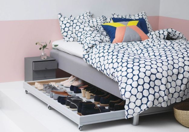 5 astuces pour optimiser l espace sous le lit elle for Rangement sous de lit