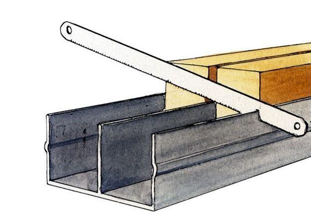 installation d'une porte coulissante dans cloison
