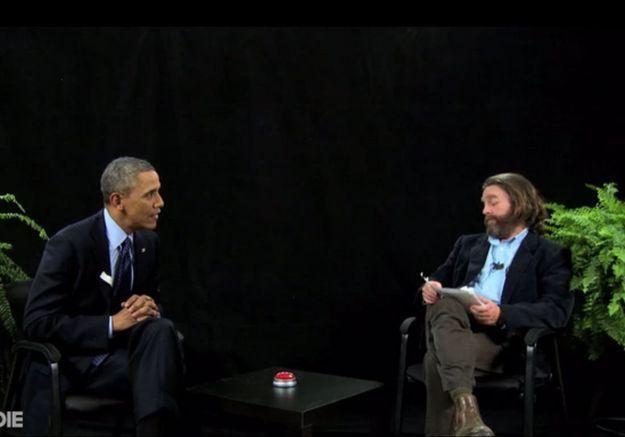 Vidéo : l'interview hilarante de Barack Obama par l'acteur Zach Galifianakis