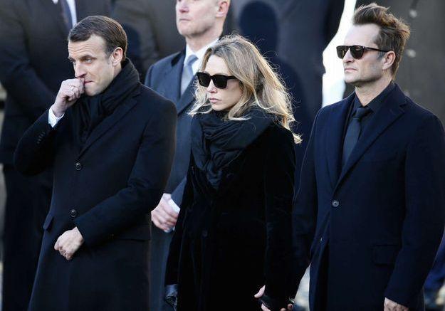 Emmanuel Macron, Laura Smet et David Hallyday