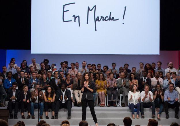 Axelle Tessandier, celle qui marche pour Macron