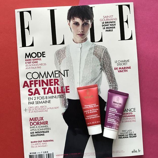 Une Crème de Douche Weleda avec votre magazine ELLE !