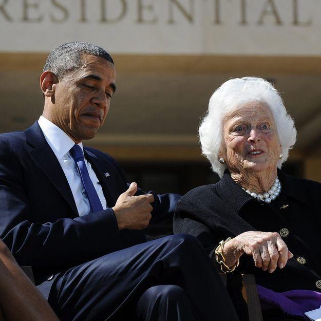 Obama souhaite « un prompt rétablissement » à Barbara Bush