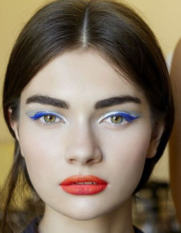 Maquillage bleu blanc rouge quel maquillage pour supporter l 39 quipe de france elle - Maquillage blanc visage ...