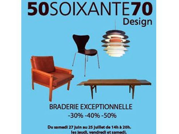 braderie mobilier scandinave chez 50soixante70 paris elle d coration. Black Bedroom Furniture Sets. Home Design Ideas