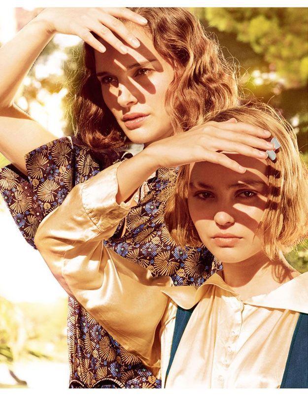 Photo : Natalie Portman et Lily-Rose Depp, en France, sur le tournage de « Planétarium »