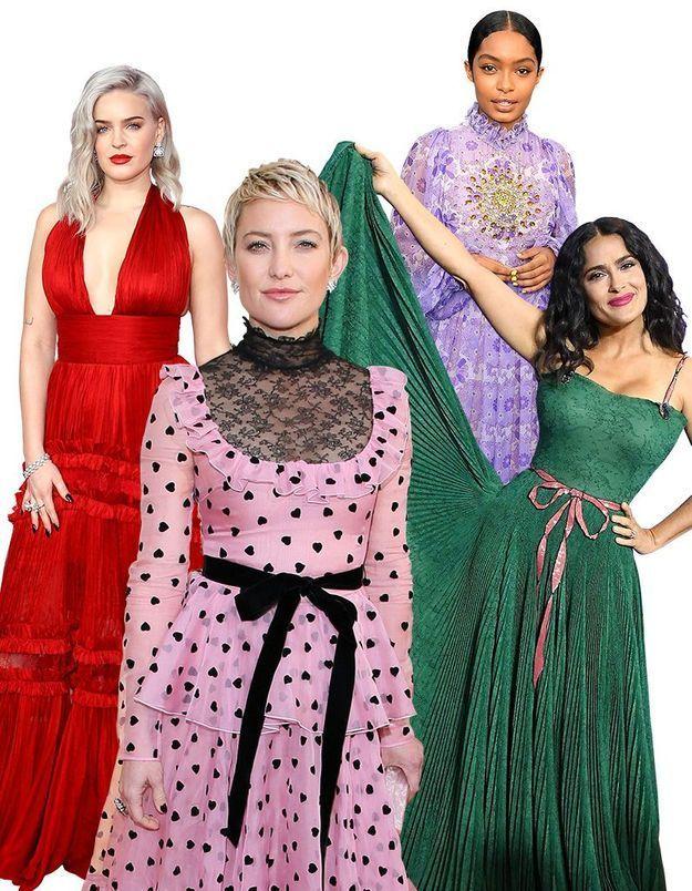 7 couleurs validées par les stars des tapis rouges