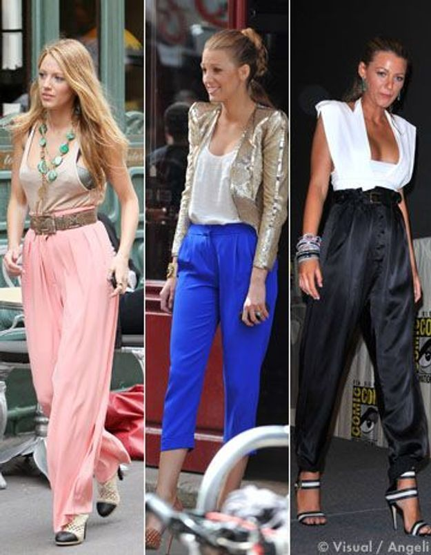 Blake Lively : accro aux pantalons taille haute