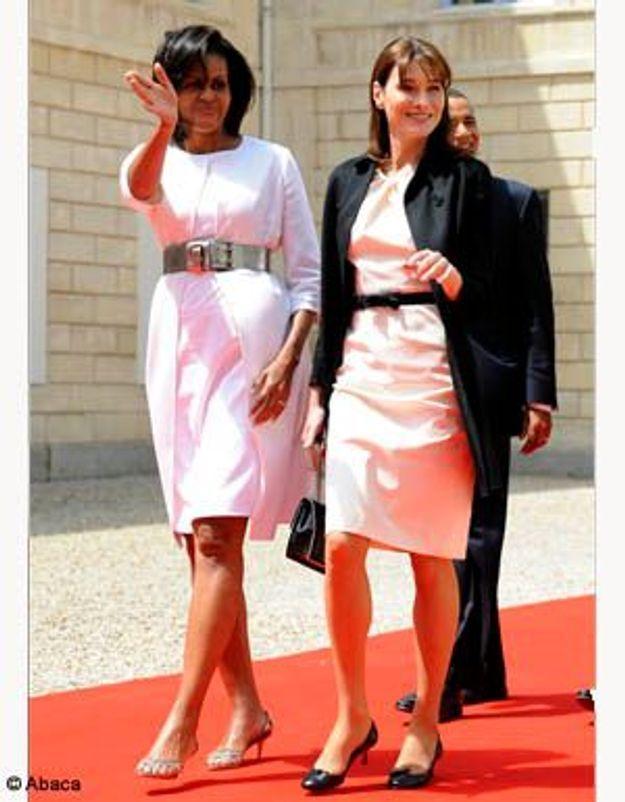Carla Bruni et Michelle Obama : soeurs jumelles à Caen !