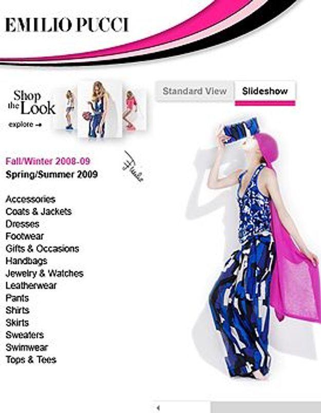Emilio Pucci lance sa boutique virtuelle