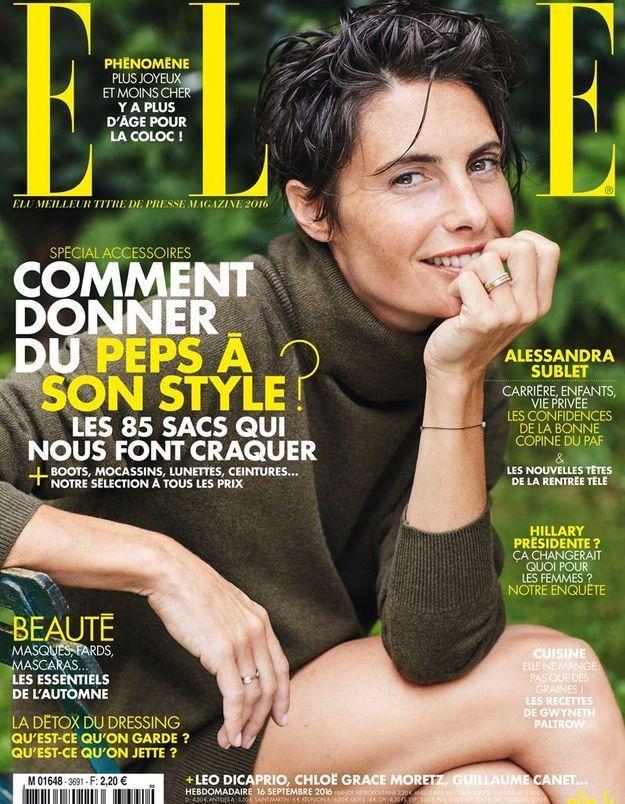 Alessandra Sublet: son père, ses cheveux, l'homme de sa vie…Ses confidences dans ELLE!