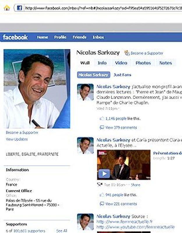 Nicolas Sarkozy se met à la page sur Facebook !