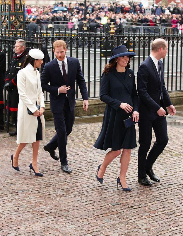William, Harry, Kate et Meghan