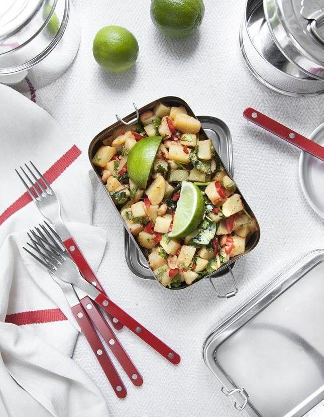 Salade épicée de pommes de terre aux herbes