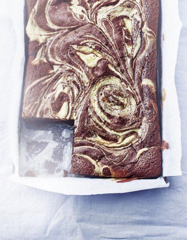 Brownie marbré au cheesecake