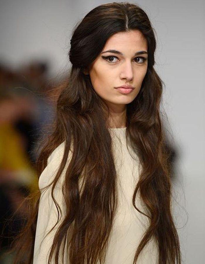 Extrêmement Coiffure cheveux longs ondulés hiver 2016 - Coiffure cheveux longs  FB99