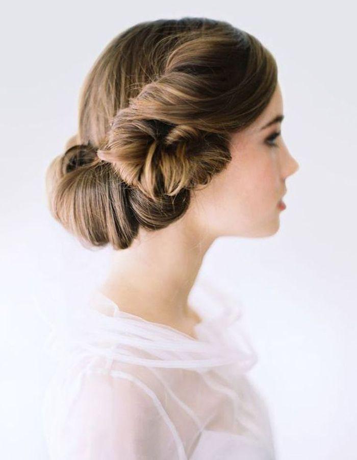Très Coiffure de mariée Chignon roulotté - Les plus jolies coiffures de  XU44