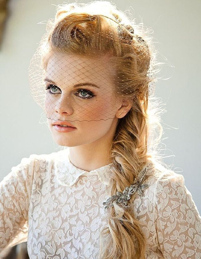 Populaire Coiffure mariée one shoulder - Les plus jolies coiffures de mariée  FM29