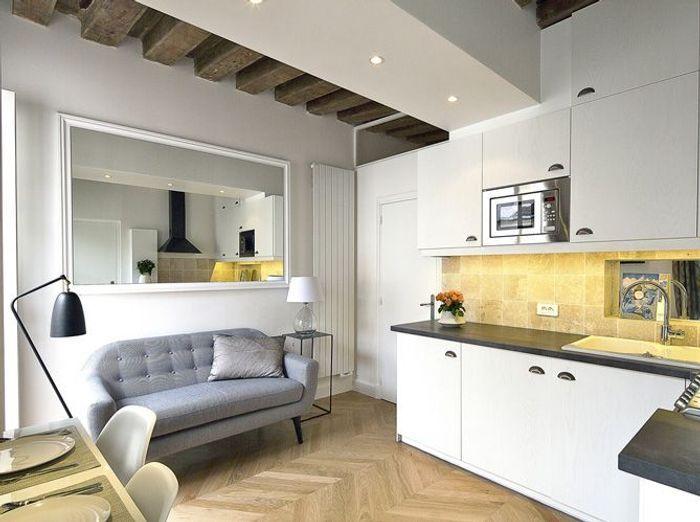 Connu Relooking d'un petit appartement au coeur du Marais - Elle Décoration LK14
