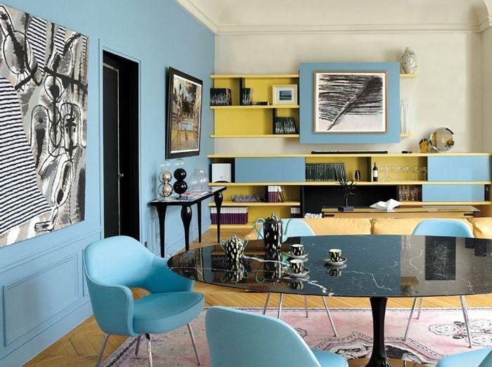 Peinture salon plus de 20 couleurs canons pour le for Idee deco peinture mur salon