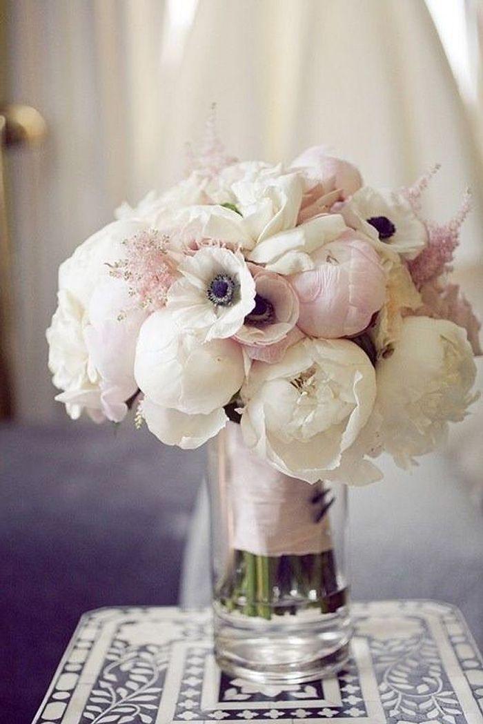 Bien connu Bouquet de fleurs blanches pour mariage chic - 25 bouquets de  XD71