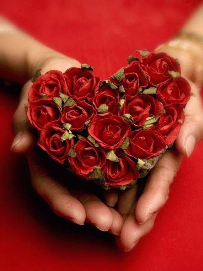 Top Bouquet de roses en cœur - Les plus beaux bouquets de roses  TW76