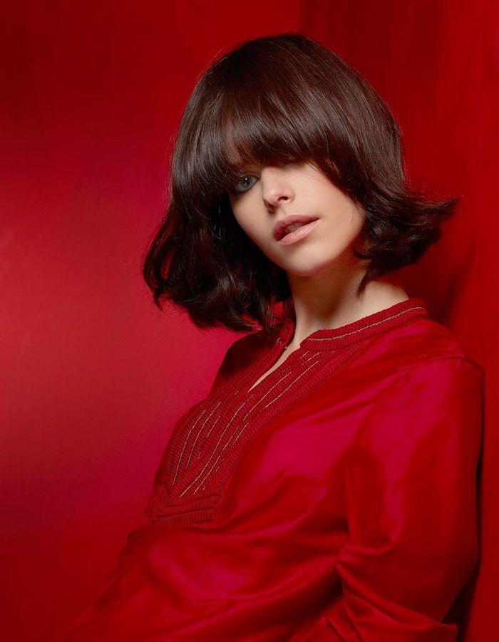 le carr brun de vog coiffures de saison nos id es pour s 39 inspirer elle. Black Bedroom Furniture Sets. Home Design Ideas