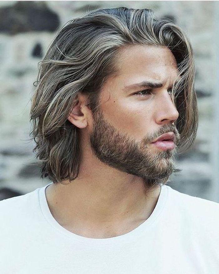 Coupe cheveux mi long pour homme