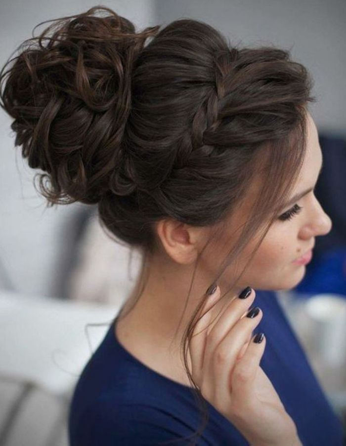 Hairstyle for long hair for indian wedding