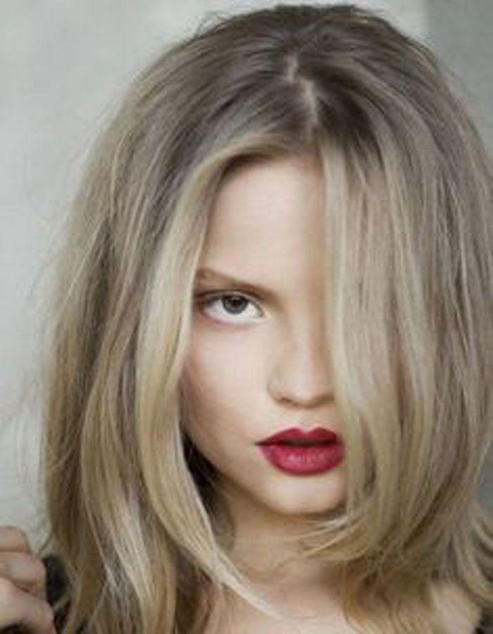 Modele coupe de cheveux long pour visage rond