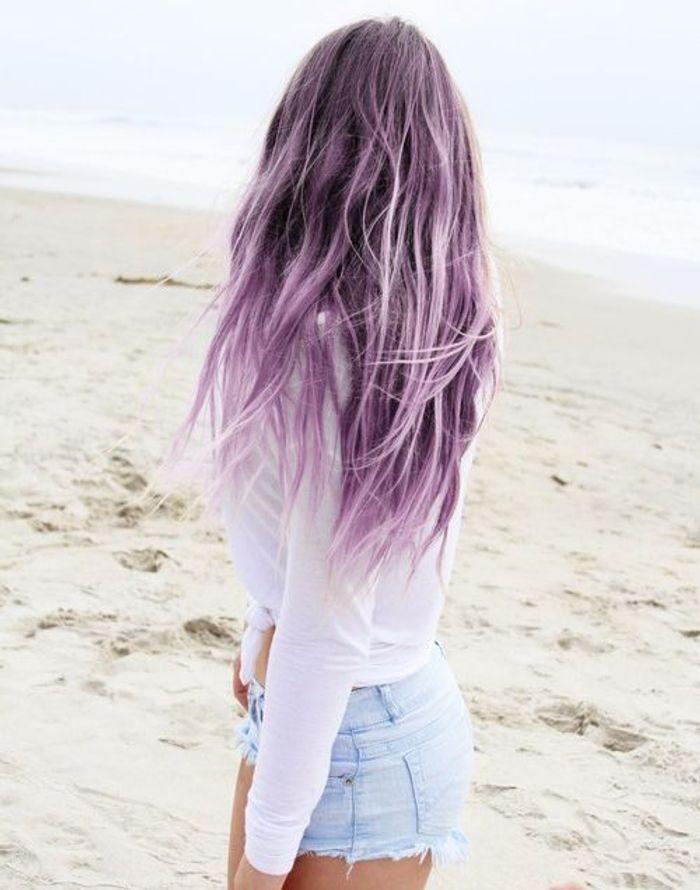 cheveux violets d lav s cheveux violets allez vous craquer elle. Black Bedroom Furniture Sets. Home Design Ideas