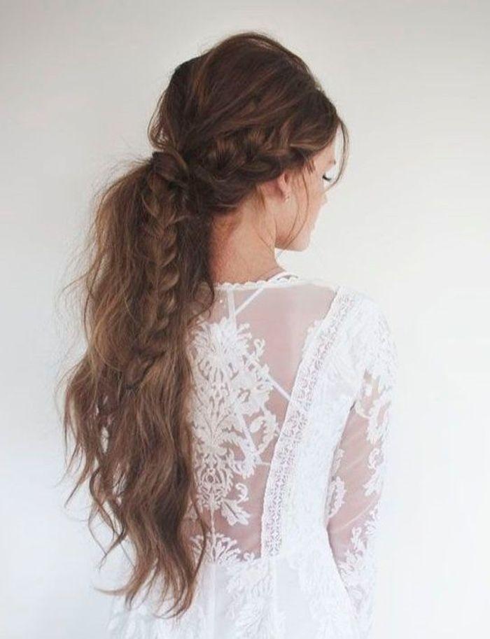 Coiffure cheveux longs en queue-de-cheval - Coiffure cheveux longs ...