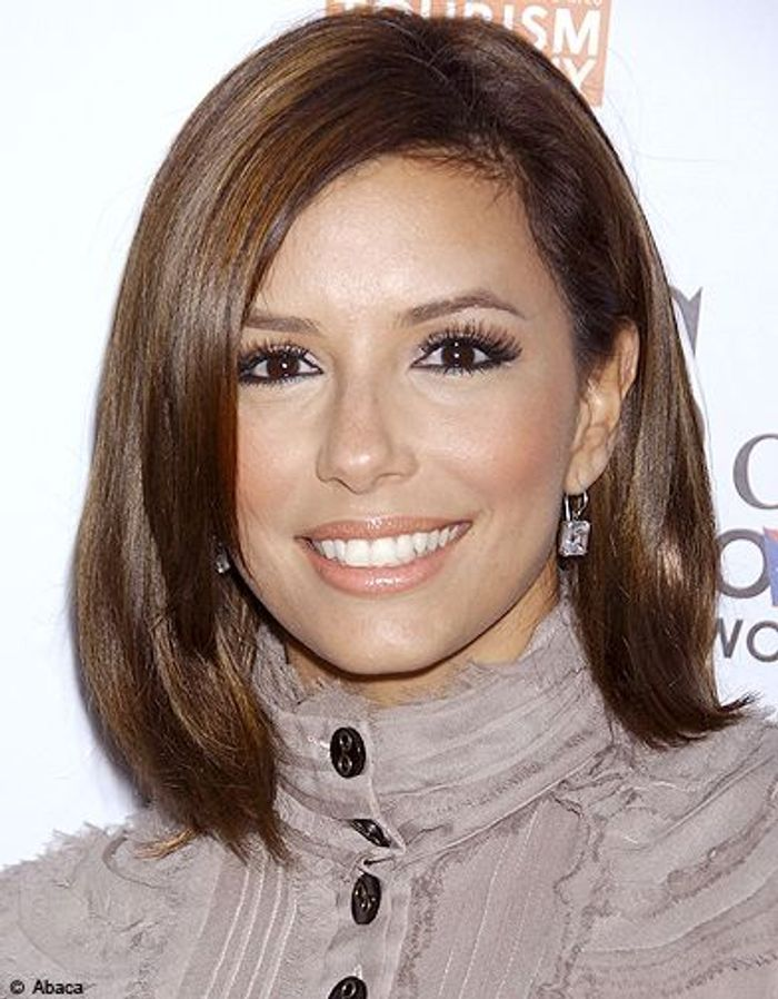 eva longoria coupe au carr les plus jolis mod les adopter elle. Black Bedroom Furniture Sets. Home Design Ideas