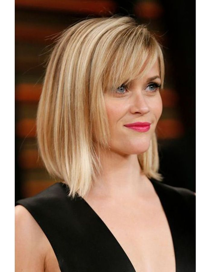 Coiffure carre plongeant blond - Coupe carre blond ...