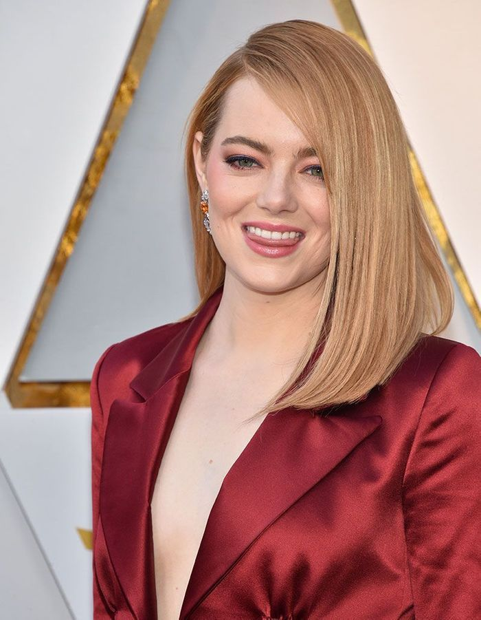 Le brushing sleek d'Emma Stone