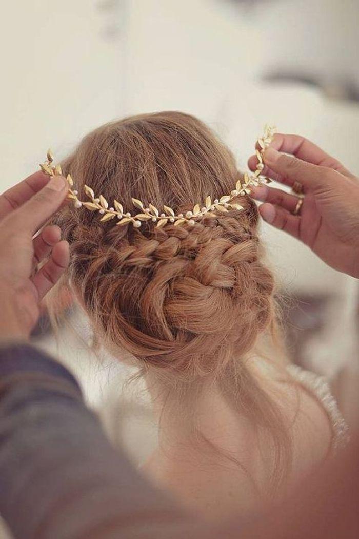Coiffure de mariée bijoux