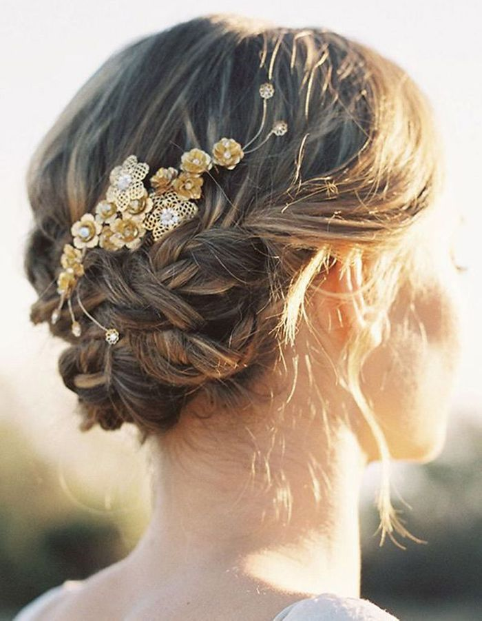 coiffure mariage avec un carre plongeant