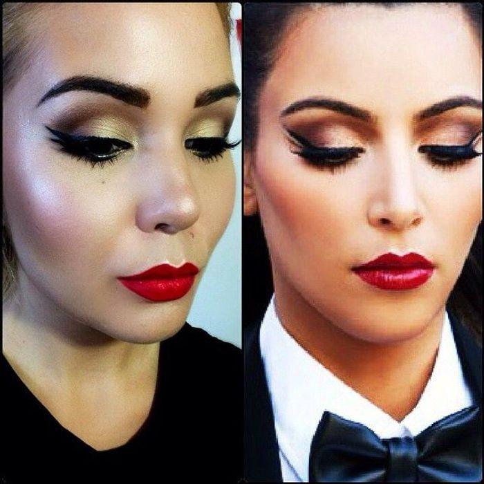 Maquillage soir e - Comment faire le maquillage de kim kardashian ...