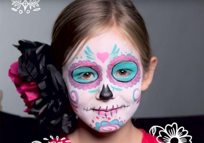 maquillage halloween enfant squelette maquillage halloween squelette with maquillage halloween. Black Bedroom Furniture Sets. Home Design Ideas
