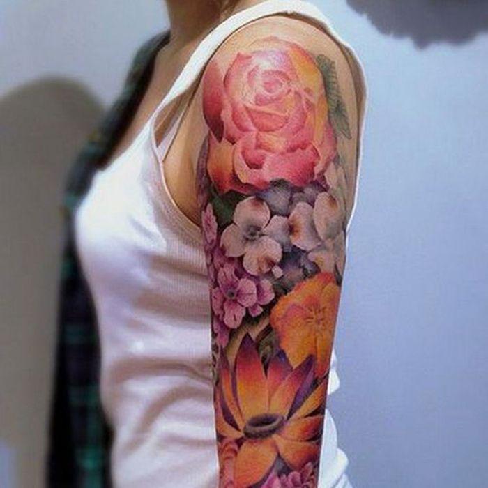 tatouage rose paule ces tatouages de rose qui ne. Black Bedroom Furniture Sets. Home Design Ideas
