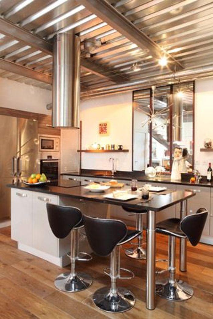 Decoration Cuisine Design. Best Cuisine Design Blanche Et Bois ...
