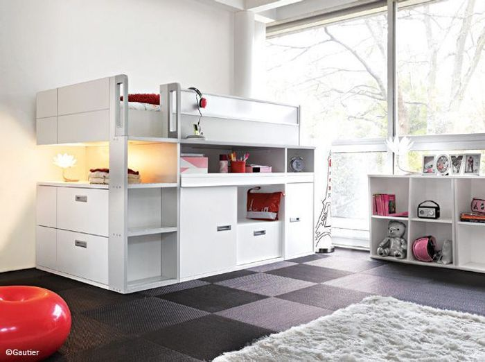 chambre enfant nos bonnes id es pour gagner de la place. Black Bedroom Furniture Sets. Home Design Ideas