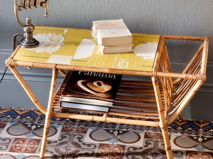 Un papier peint sur la table