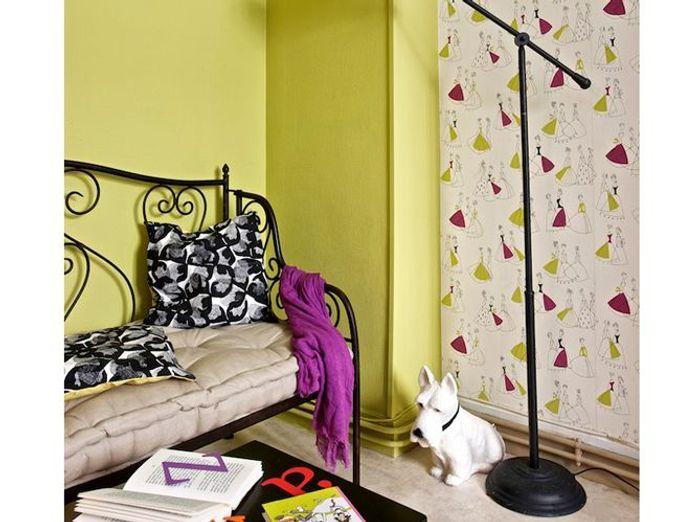 papiers peints et peintures les bons duos elle d coration. Black Bedroom Furniture Sets. Home Design Ideas