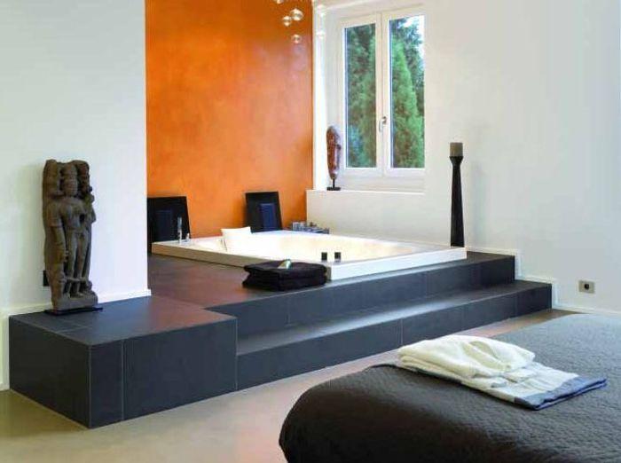 Une chambre avec salle de bains un r ve de bien tre for Baignoire dans chambre a coucher
