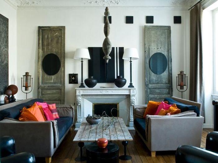 Une maison guid e par la couleur elle d coration for Elle decoration maison